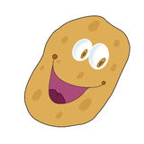 Isolated smiling potato Stock Images