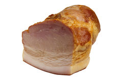 Isolated smoked ham Royalty Free Stock Images