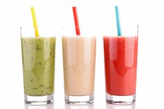 Isolated smoothies Royalty Free Stock Images