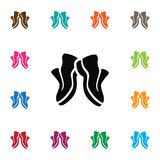 Isolated Sneakers Icon. Gumshoes Vector Element Can Be Used For Sneakers, Sport, Shoes Design Concept. stock illustration