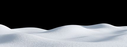 Free Isolated Snow Hills Landscape. Winter Snowdrift Background. Stock Images - 161166334