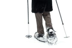 Isolated snow shoes Royalty Free Stock Photo