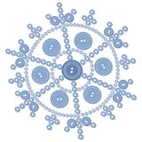 Isolated snowflake 05 Royalty Free Stock Image