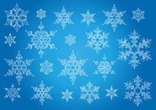 Isolated  snowflakes Stock Images