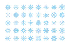 Isolated snowflakes set. Royalty Free Stock Photography