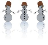 Isolated snowman Royalty Free Stock Photography