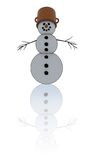 Isolated snowman Royalty Free Stock Image