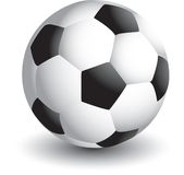 Isolated Soccer ball. Close up picture of a soccer ball Stock Image
