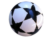 ISOLATED SOCCER BALL WITH CLIPPING PATH Royalty Free Stock Photo