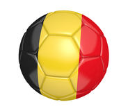 Isolated soccer ball, or football, with the country flag of Belgium Royalty Free Stock Images