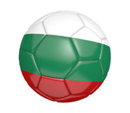 Isolated soccer ball, or football, with the country flag of Bulgaria Stock Images
