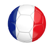 Isolated soccer ball, or football, with the country flag of France. Rendered in 3D on a white background Stock Photo