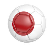 Isolated soccer ball, or football, with the country flag of Japan Royalty Free Stock Images