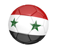 Isolated soccer ball, or football, with the country flag of Syria. Rendered in 3D on a white background Royalty Free Stock Photo