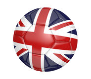 Isolated soccer ball, or football, with the country flag of the United Kingdom Royalty Free Stock Photos