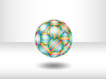 Isolated soccer ball. Royalty Free Stock Images