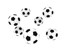 Isolated soccer balls stock photography