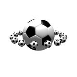 Isolated soccer balls royalty free stock photo