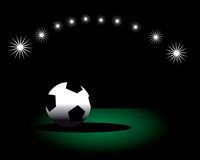Isolated soccer football background poster Stock Photography