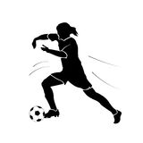 Isolated soccer player Royalty Free Stock Images