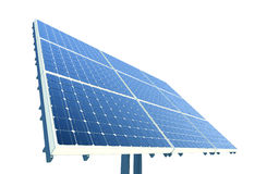 Isolated solar panel Stock Images