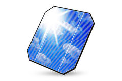 Isolated solar panel Royalty Free Stock Photography