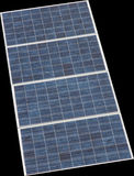 Isolated solar panel. S with backgrounf black Stock Photo