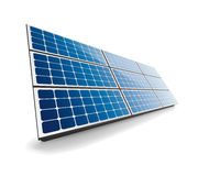 Isolated solar panel. Solar panel icon with shadow isolated on white background. This illustration is EPS10 vector file and includes gradient mesh, transparency Royalty Free Stock Photo