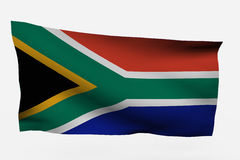 Isolated South Africa 3d flag. South Africa 3d flag isolated on white background Stock Images