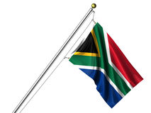Isolated South African Flag Royalty Free Stock Image