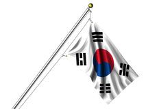 Isolated South Korean Flag Royalty Free Stock Photo