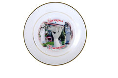 Isolated souvenir plate Stock Photo