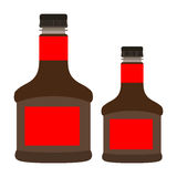 Isolated soy sauces. Isolated pair of soy sauces on a white background, Vector illustration Royalty Free Stock Photos