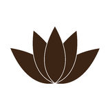 Isolated spa icon. Isolated lotus flower icon on a white background, Vector illustration vector illustration