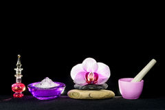 Isolated spa set Royalty Free Stock Images