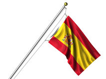 Isolated Spanish Flag Stock Photography