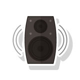 Isolated speaker device design Royalty Free Stock Images