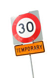 Isolated speed limit road sign Royalty Free Stock Photo