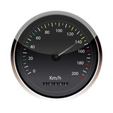 Isolated speedometer Royalty Free Stock Photography