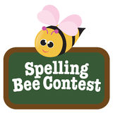 Isolated Spelling Bee with Sign. Illustration of a Spelling Bee with Sign Isolated on white vector illustration