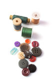Isolated spindles, buttons Royalty Free Stock Photo