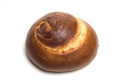 Isolated Spiral Challah Bread Stock Photos