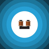 Isolated Spool Flat Icon. Coil Copper Vector Element Can Be Used For Spool, Coil, Copper Design Concept. Coil Copper Vector Element Can Be Used For Spool, Coil Royalty Free Stock Image
