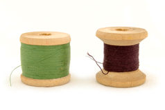 Isolated spools Stock Image