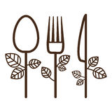 Isolated spoon knife and fork design Royalty Free Stock Photos