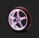 isolated sport car wheel Royalty Free Stock Images