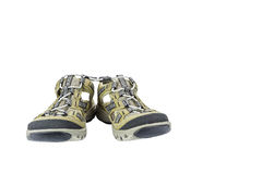 Isolated sport sandals on white Stock Photos