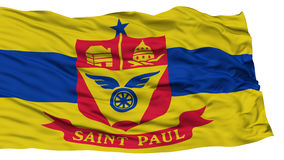 Isolated St Paul Flag, Waving on White Background Royalty Free Stock Image