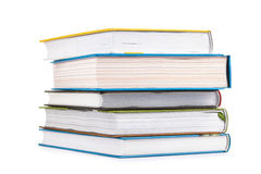 Isolated stack of books Stock Photo