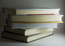 Isolated stack of books Royalty Free Stock Photography
